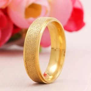 Jewelry - Gold Frosted Stainless Steel Ring